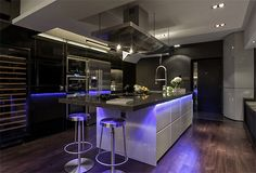 ultra modern with colored LED lighting