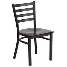 Flash Furniture Hercules Series Black Ladder Back Metal Restaurant Chair with...
