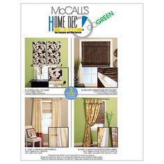 Window Treatments-All Sizes in One Envelope Pattern