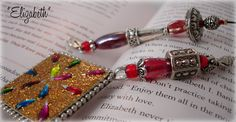 Designer Beaded Bookmark  Elizabeth by SassyBookBling on Etsy, $19.00