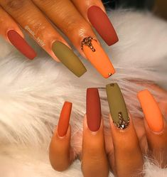 50 Simple Acrylic Coffin Nails Designs Ideas for 2019#AcrylicNails #CoffinNails