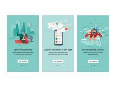 Onboarding Google Trips by German Kopytkov #Design Popular #Dribbble #shots
