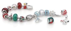 Create a festive charm bracelet with holiday themed silver beads and charms from Persona and the Peanuts by Persona collection. Discover the collection at www.personaworld.com