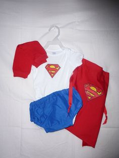 Superman costume Superman onsie diaper cover outfit by SedonaStyle, $44.00