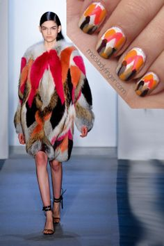 Coolest site ever. She takes runway looks as inspiration for nail art.     @Leslie Almeida, I thought you.