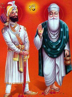 Guru Nanak Dev saheb and Guru Gobind Singh Maharaj. The first and the tenth Guru…