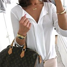 Secret Trove Of Luxury Lv Handbags, Louis Vuitton Handbags, Louis Vuitton Speedy Bag, Style Me, Your Style, White Shirts, Fall Winter Outfits, Look, Womens Fashion