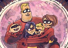Yayyyy Incredibles 2 is finally happening! characters(c)Disney image(c)asmithart group hug Disney Incredibles, Disney Pixar Movies, Disney And Dreamworks, Violet Parr, Disney Images, Cool Art Drawings, Disney Marvel, Disney Fan Art, Art Reference