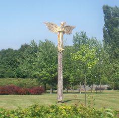Anioł Stróż, Park Bródnowski, Warszawa, Polska.
