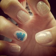 My Autism Awareness nails! I love them!