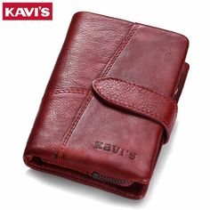 a3ccd85d5b9 KAVIS 2017 Genuine Leather Women Wallet And Purses Coin Purse Female Small  Portomonee Rfid Walet Lady