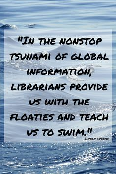 #Library quote from Linton Weeks.