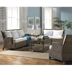 Panama Jack Sunroom Exuma 5 Piece Living Room Set Upholstery: Molokai Rain
