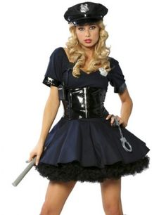 Sexy Police Officer Fancy Dress Outfit