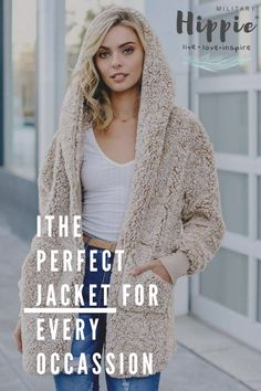 Super cozy faux fur cardigan jacket, featuring an oversized turn-down collar and roomy front pockets.