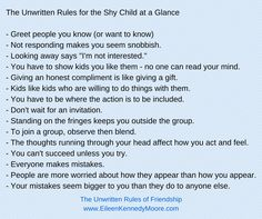 The Unwritten Rules of Friendship for the Shy Child | Eileen Kennedy-Moore, PhD