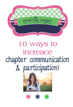 "Sometimes chapter communication is nothing but ""nagging"" and soon sisters tune it out completely. Avoid the vicious cycle of pressure and avoidance. Here are some ideas that should help inter-chapter communication and increase attendance at events too! <3 BLOG LINK: http://sororitysugar.tumblr.com/post/132409952344/sorority-qa-improving-communication#notes"