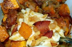 Souffle Bombay: Roasted Butternut Squash and Bacon Pasta
