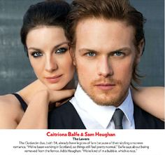 Scans of Caitriona Balfe and Sam Heughan in People Magazine ...