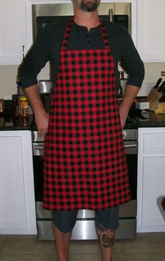 Red Butcher Apron Fits Sizes M to 2XL Chili Pepper Red Unisex Apron Chili Cookoff Apron