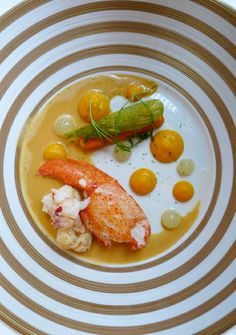 The Ritz , London- Native Lobster cooked en cocotte with aromatics, carrot ginger and lime
