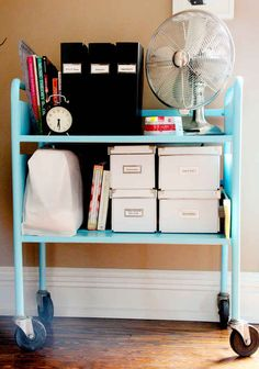 Use one in a dorm or teen's room as a makeshift bookshelf.