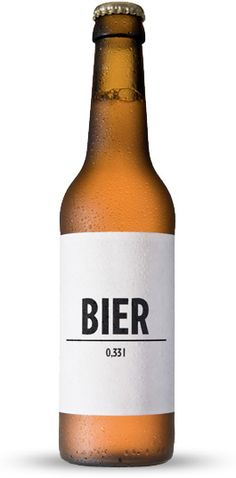 Simple as simple can be. great idea packaging beer label