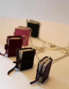 Book Necklaces now avalible to buy by Theflyleaves on Etsy, £14.00