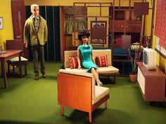 Vintage Barbie & ken home