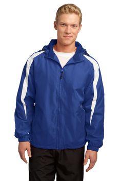 Sport-Tek Fleece-Lined Colorblock Jacket. JST81 True Royal/White