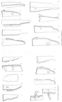 Hedeby knife scabbards - 8-10th C