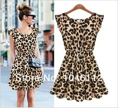 New Arrival Sexy Women's Colorful Printed Back Hollow Design Lady Summer Dress  size S M L XL