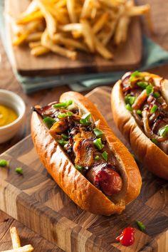 "brenthofacker: "" Bacon Wrapped Hot Dogs Nom Nom Photography """