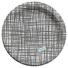 Cheeky 7 inch Paper Plates Grey Cross Hatch Full Coverage