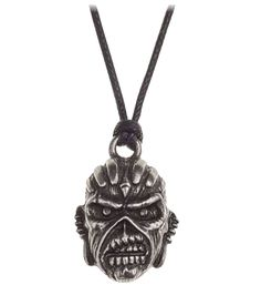 Iron Maiden Necklace Pendant Book Of Souls Eddie Alchemy Silver - Paradiso Clothing