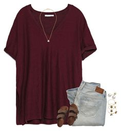 •Let it Go• by mgpayne10 on Polyvore featuring Zara, Birkenstock, Mikimoto, Chan Luu, Alex and Ani and Abercrombie & Fitch