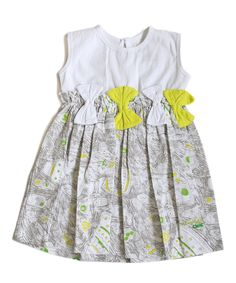 Look what I found on #zulily! Gray & Yellow Cake Bow Dress - Infant, Toddler & Girls by Lourdes #zulilyfinds