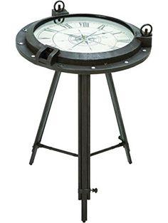 Deco 79 Metal Clock, Table 24 by 19-Inch ❤ Benzara