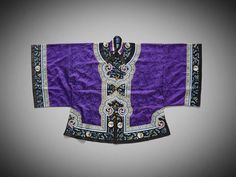 A Chinese purple-ground silk-embroidered jacket Late Qing dynasty