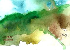 Mist on the Mountains ACEO Art Print Nature Watercolor Landscape Painting Watercolor ACEO Art Print Whimsical Mountians by Niina Niskanen Watercolor Landscape Paintings, Landscape Artwork, Watercolor Artists, Watercolor Painting, Watercolors, Contemporary Art For Sale, Artist Card, Mountain Landscape, Whimsical Art