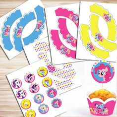 My Little Pony Party DIY Kit, My Little Pony Decorations, My Little Pony Birthday Banner, My Little Pony Invitation, My Little Pony Toppers