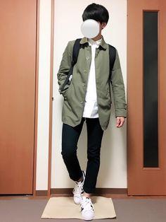 いつも見ていただきありがとうございます(^^) ステンカラーコートコーデです!リュックとスニーカーで Bomber Jacket, Jackets, How To Wear, Fashion, Moda, Fashion Styles, Fashion Illustrations, Jacket, Fashion Models