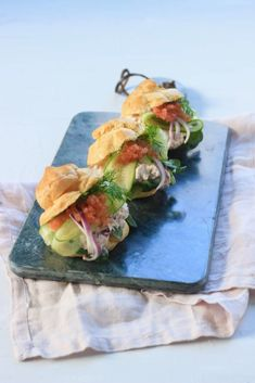 Appetizer Recipes, Appetizers, Sandwiches, Croissant, Fish And Seafood, Fresh Rolls, Food For Thought, Food And Drink, Mexican