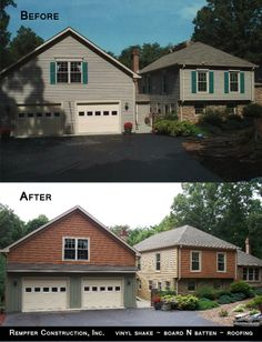 Rempfer Construction, Inc. Siding - Roofing Before & After Construction, Cabin, House Styles, Home Decor, Building, Decoration Home, Room Decor, Cabins, Cottage