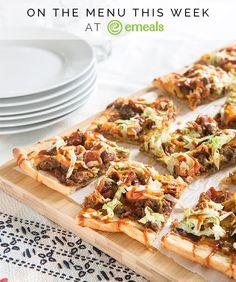 On eMeals Menus This Week: Cheeseburger Pizza!