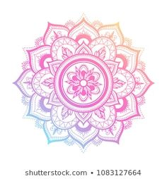 round gradient mandala on white isolated background. vector boho mandala in green and pink colors. mandala with floral patterns. Simple Mandala Tattoo, Henna Mandala, Mandala Drawing, Mandala Design, Tattoo Mandala Feminina, Rundes Tattoo, Rosas Vector, What Is A Mandala, Black Tattoo Art