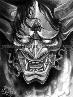 oni demon hannya japanese by jamesdangerharvey on DeviantArt