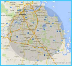 nice Map of Brisbane