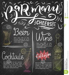 Bar menu template stock vector. Illustration of design - 70996946