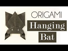 Origami tutorial for Halloween - Halloween Bat by Nick Robinson - YouTube